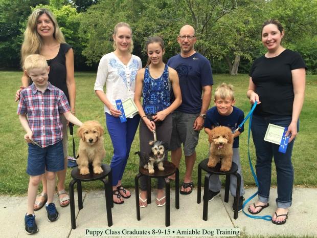 July 2015 Puppy Class Graduates